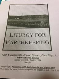Liturgy For Earth Keeping