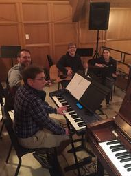 Youth Sunday Praise Band Rehearsal 2015