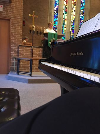 Playing Piano In Worship