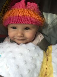 Hope's Orange & Pink Hat
