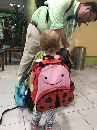 Hope's Ladybug Backpack June 2017