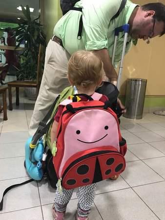 Hope's Ladybug Backpack June 2017