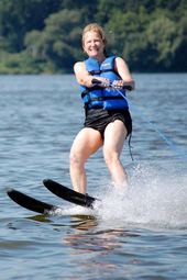 Nancy Waterskiing